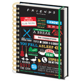 Friends Infofraphic A5 Notitieboek
