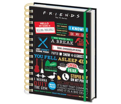 Friends Infofraphic A5 Notitieboek