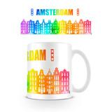 Amsterdam Grachtenpandjes Regenboog Mok