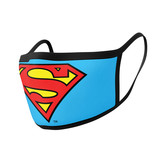 Superman Logo Mondmasker Set (2 Stuks)