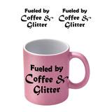 Coffee And Glitter Roze Glitter Mok