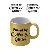 Coffee And Glitter Goude Glitter Mok