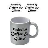 Coffee And Glitter Zilvere Glitter Mok
