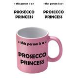 Prosecco Roze Glitter Mok