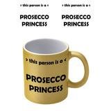 Prosecco Princess Goude Glitter Mok