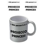 Prosecco Princess Zilvere Glitter Mok