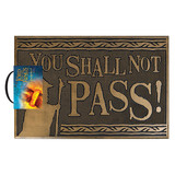 Lord Of The Rings You Shall Not Pass Rubberen Deurmat