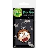 Rick & Morty Morty Terrified Face - Rubberen Sleutelhanger