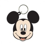 Mickey Mouse Head - Rubberen Sleutelhanger