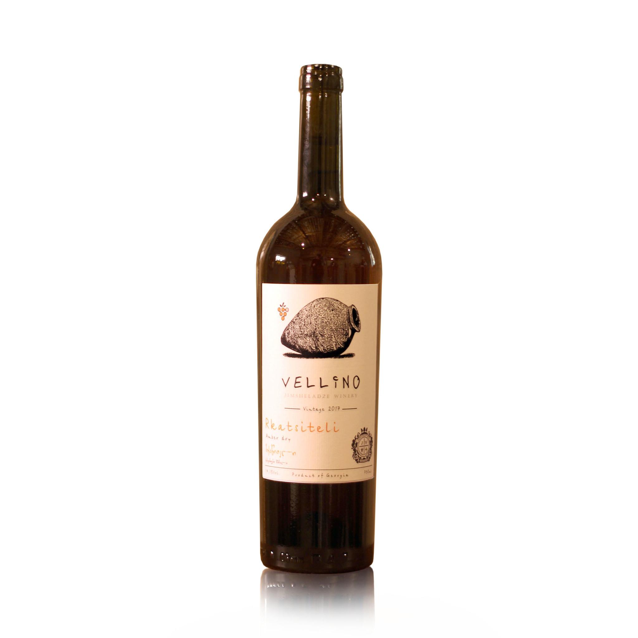Merk Vellino Rkatsiteli Vellino, Amber droge wijn 2018