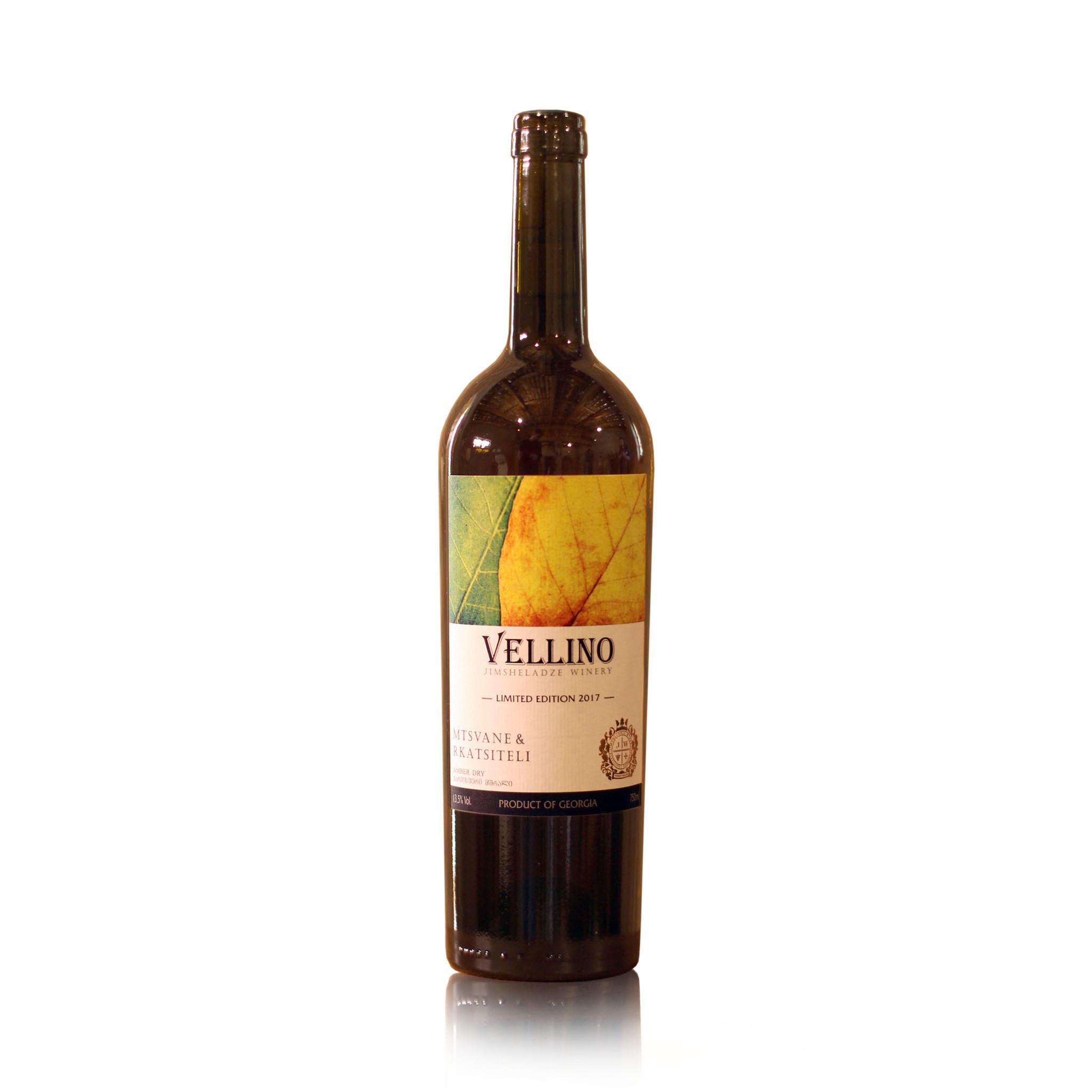 Merk Vellino Mstvane-Rkatsiteli Vellino, Amber droge wijn 2017