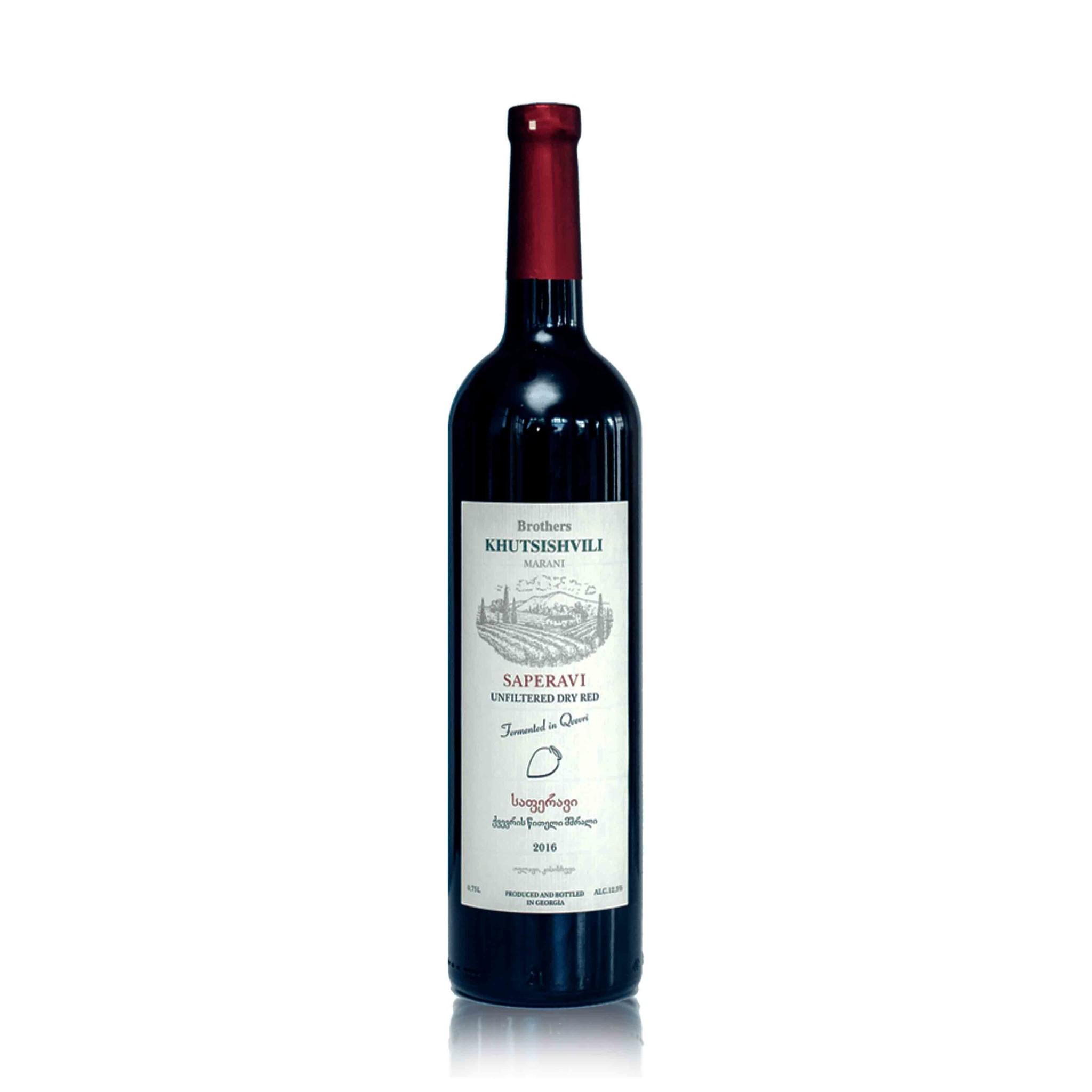 Brothers KHUTSISHVILI Saperavi, Red-dry Qvevri wine Khutsishvili