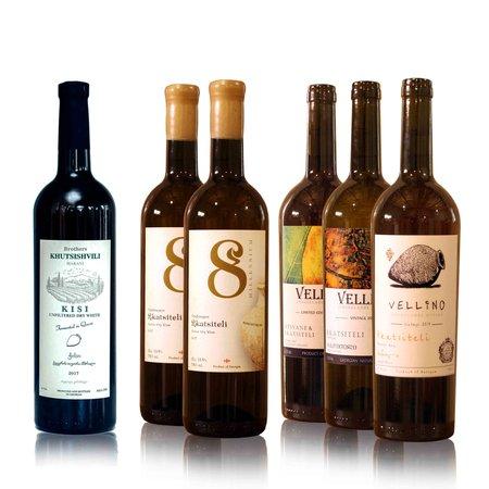 8millennium and Vellino Wijn proefpakket Amber  [Kisi, Mtsvane-Rkatsiteli, Rkatsiteli] (6x)