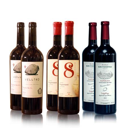 8millennium and Vellino Wijn proefpakket Saperavi,  rode-droge Qvevri wijnen (6x)