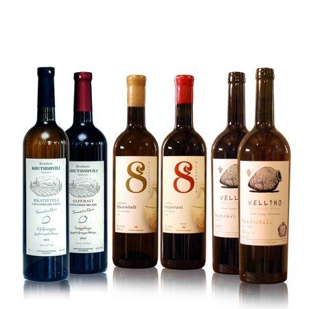 Wijn proefpakket Amber en Rood (Gratis verzending NL)