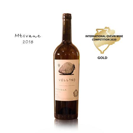 Merk Vellino Vellino Mtsvane, Amber dry Qvevri wine 2018