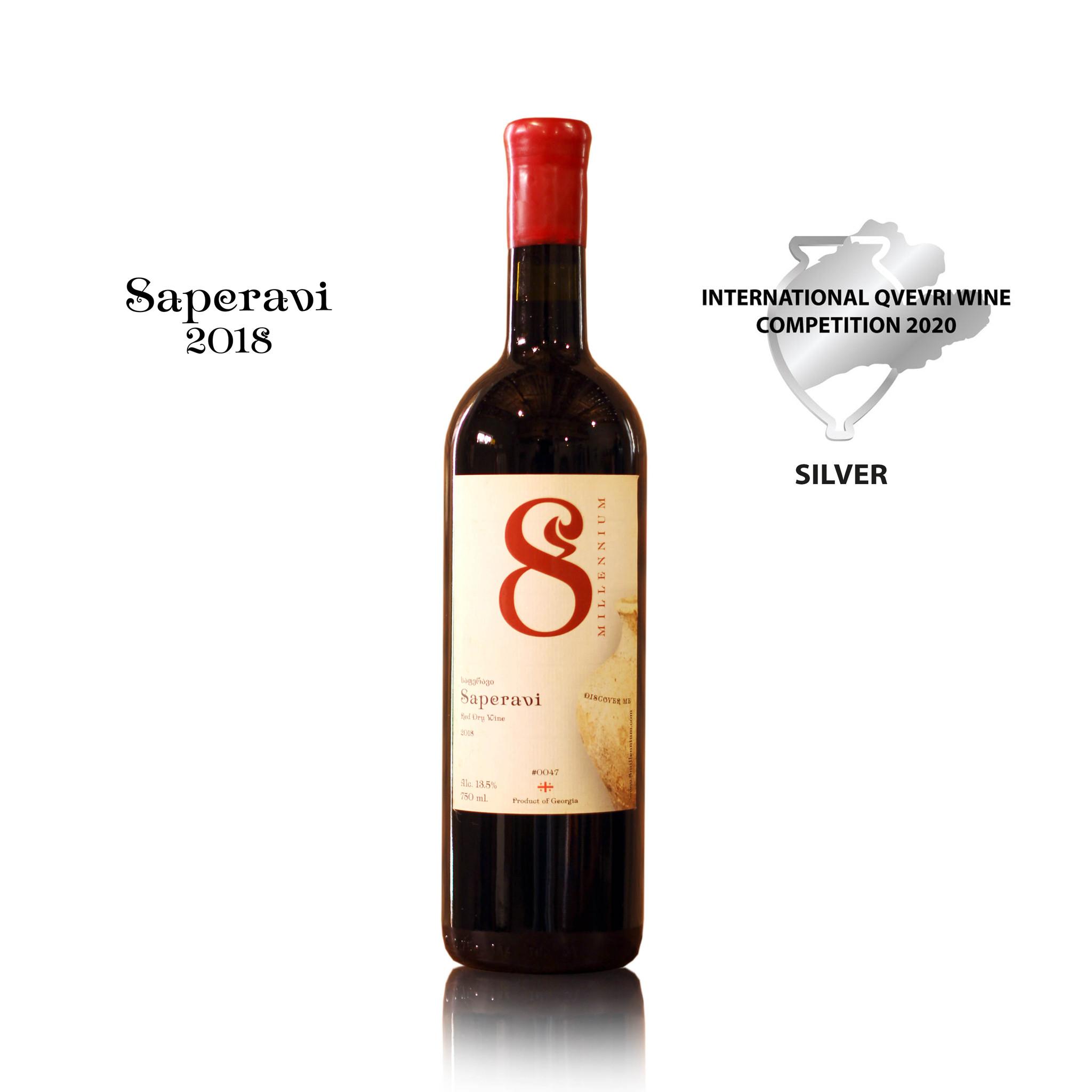 Merk  8millennium  Saperavi 8millennium [bio-dynamic], rood droog wijn