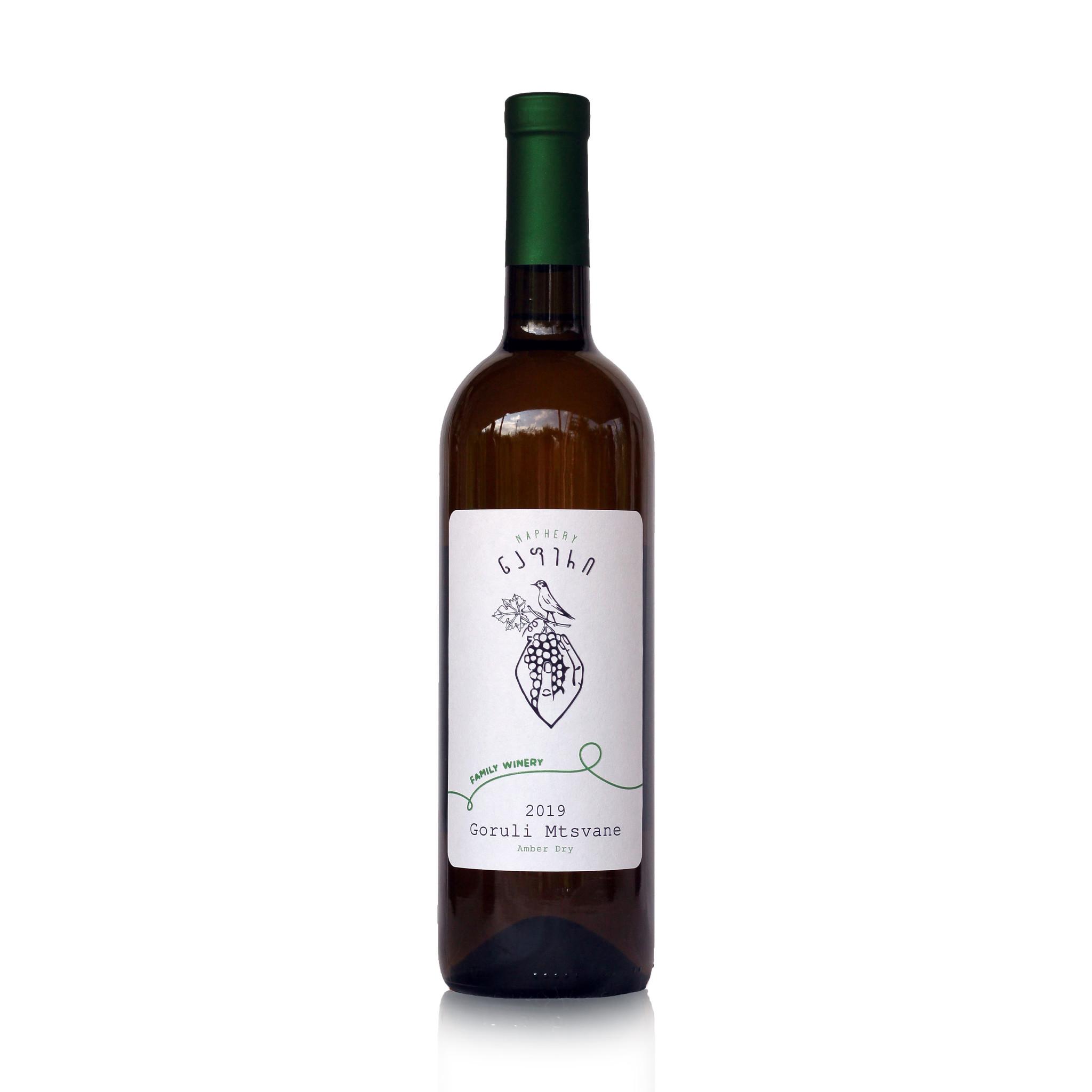 Napheri Goruli Mtsvane Napheri, Amber droge wijn 2019