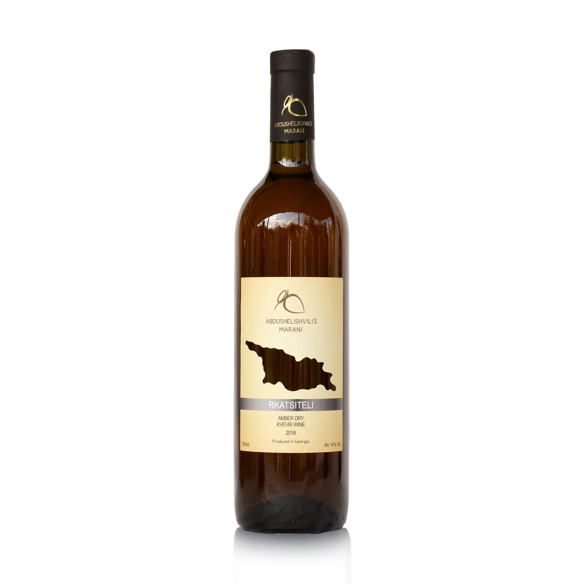 Abdushelishvili Winery Rkatsiteli Qvevri, Amber dry wine 2019, Abdushelishvili