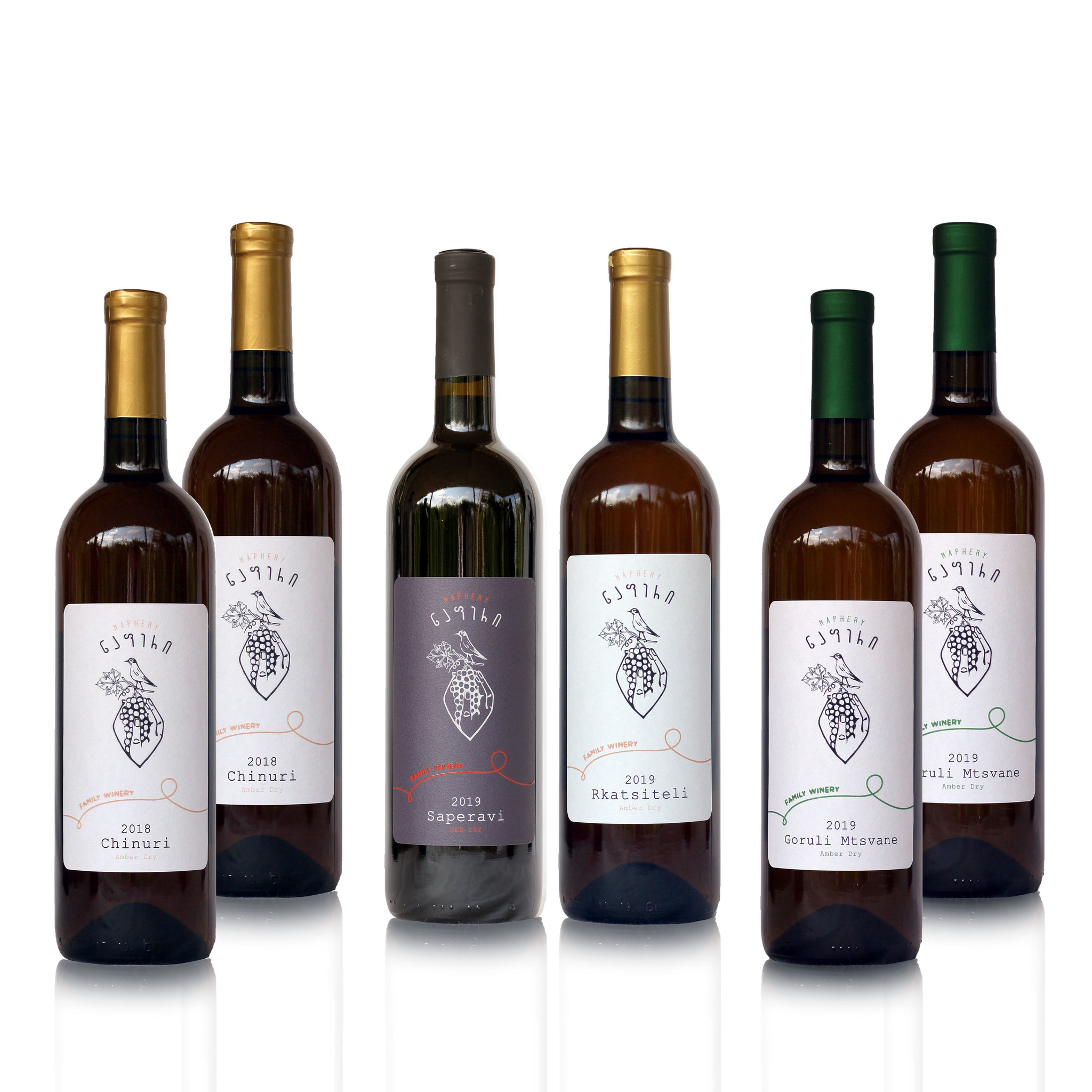 Napheri Wijn proefpakket Napheri, droge amber en rode wijnen (6x)