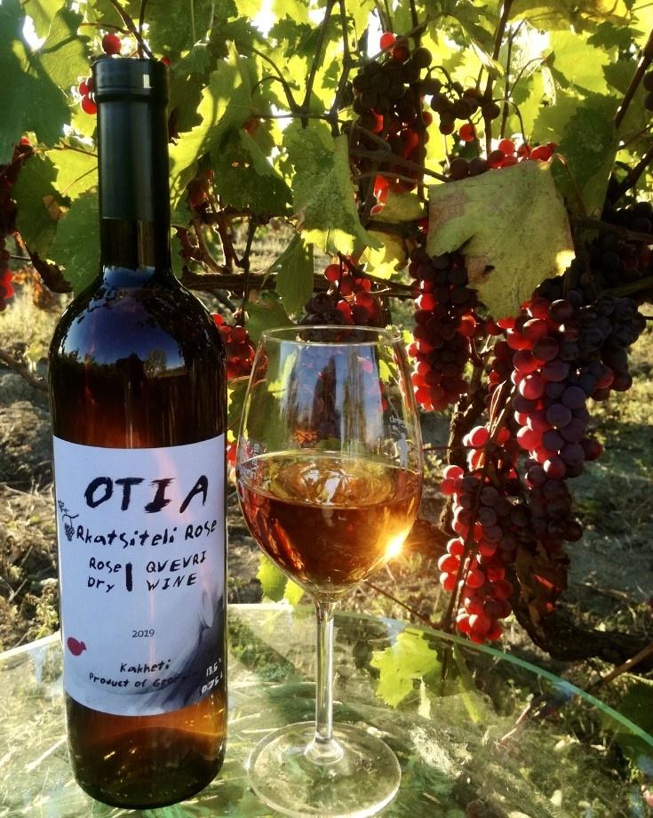 OTIA  Rkatsiteli-Rose 2018 Qvevri wine, OTIA