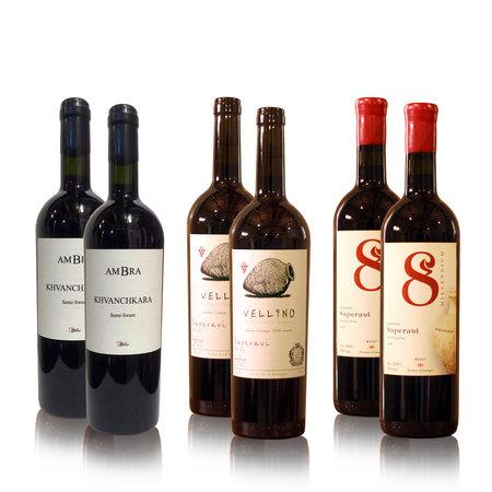 8millennium, Vellino, AMBRA Premium wijn proefpakket rode-droge en half-zoete wijnen (6x)