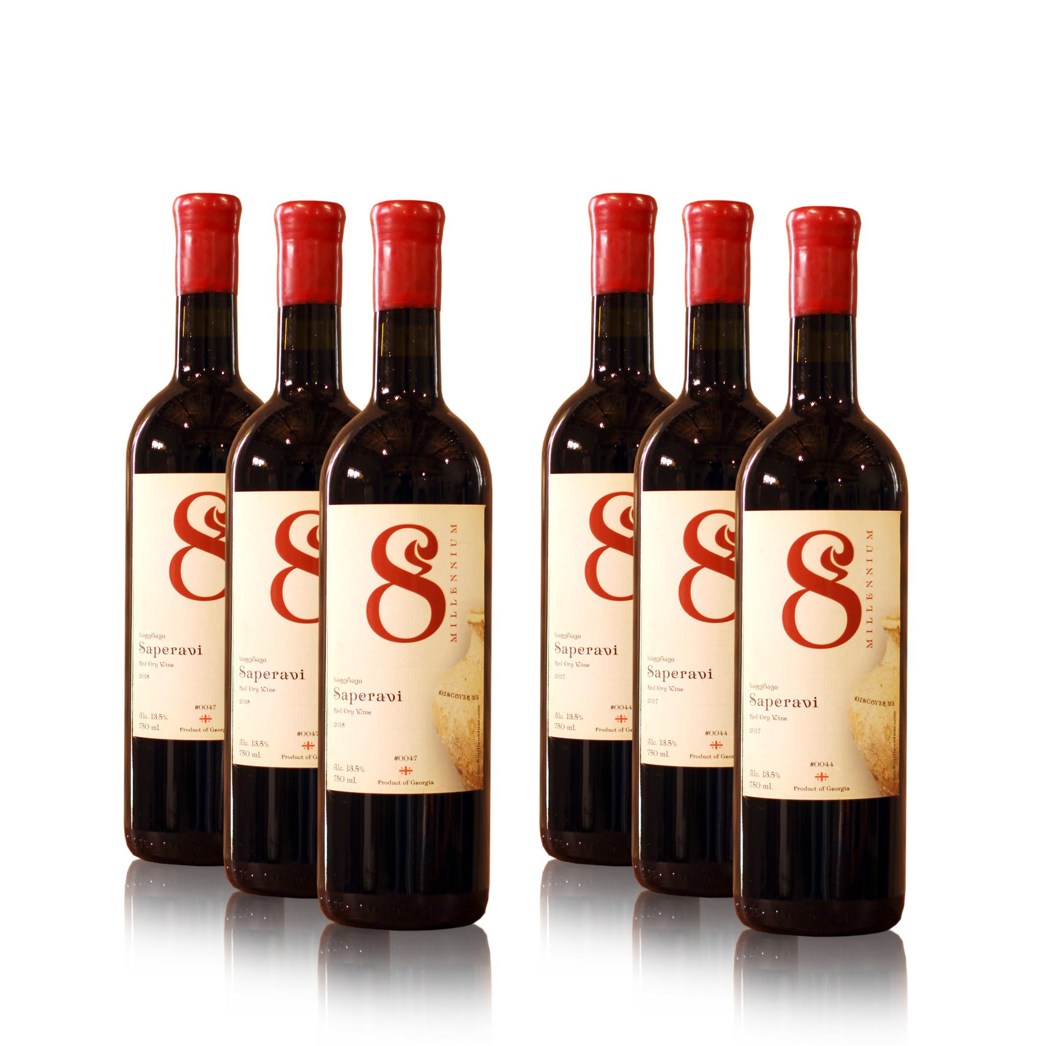 Merk  8millennium  Wijn proefpakket Saperavi  8millennium rode-droge wijnen (6x)
