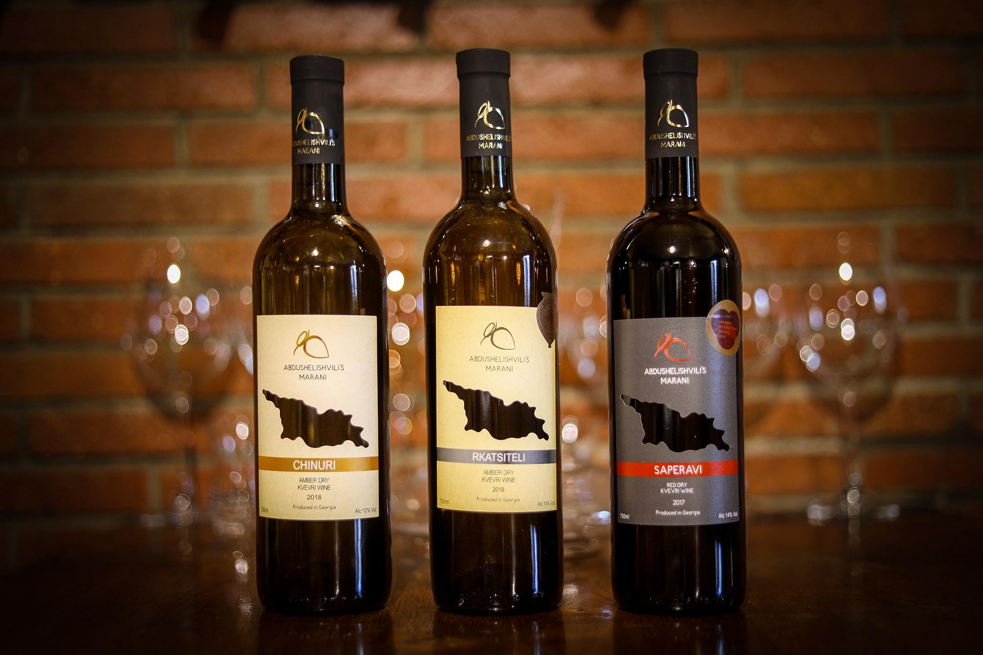 Abdushelishvili Winery Wijn proefpakket Abdushelishvili, droge amber en rode wijnen (6x)
