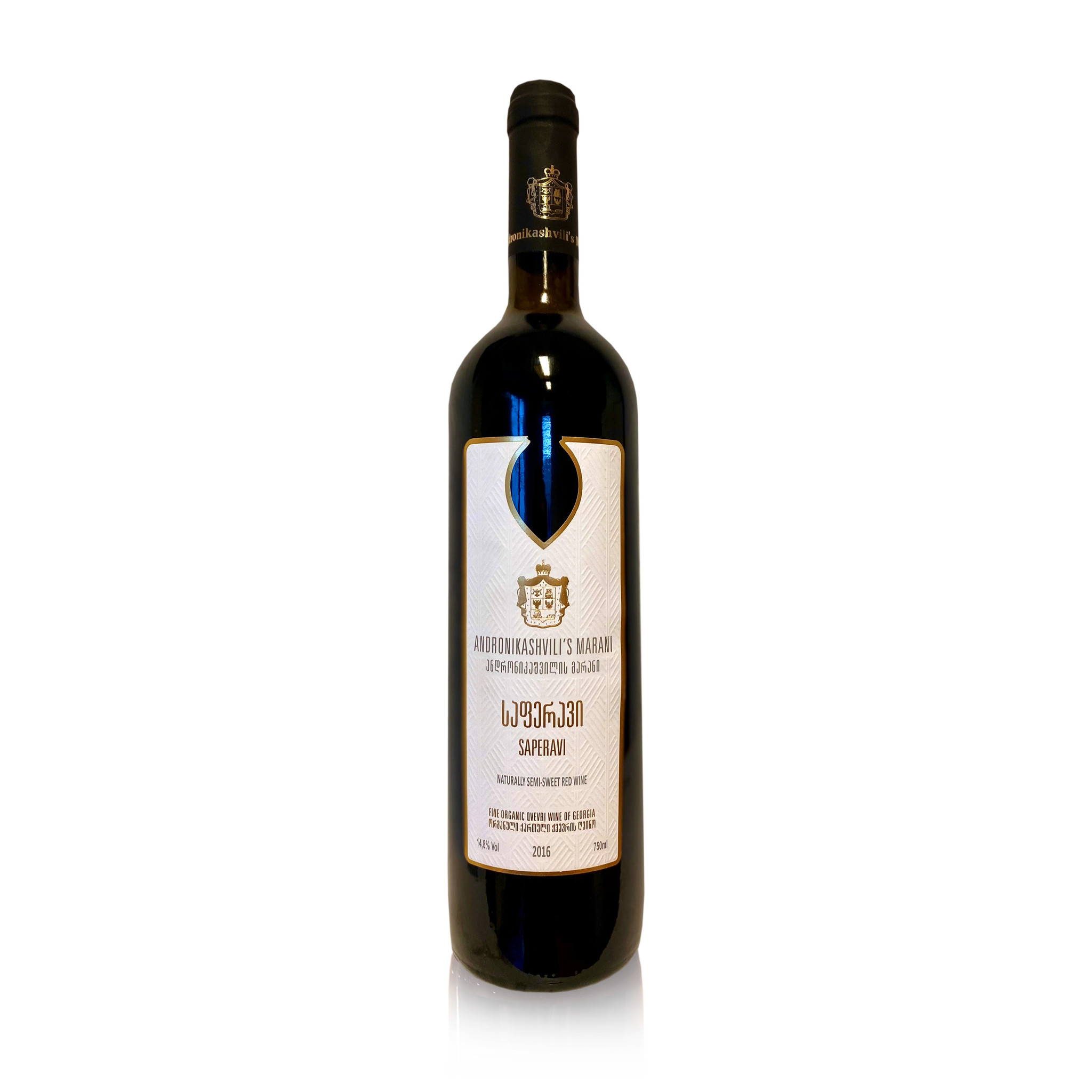 Andronikashvili Bio winery Saperavi [Bio] Semi-Sweet Red wine 2016