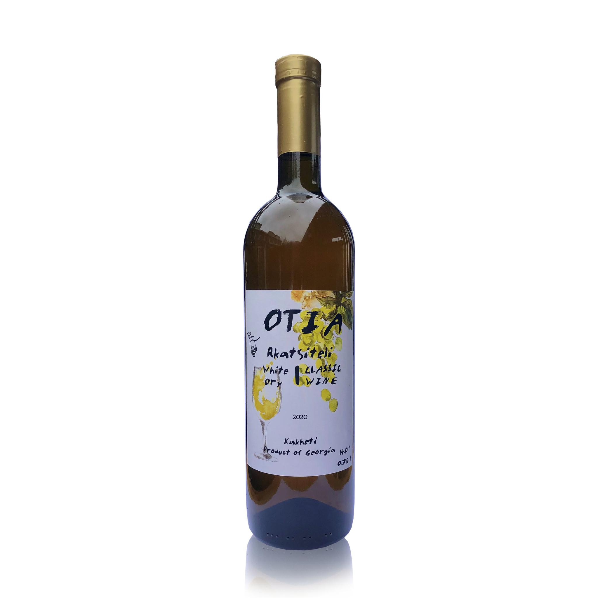 OTIA  OTIA Rkatsiteli, Classic white dry wine 2020