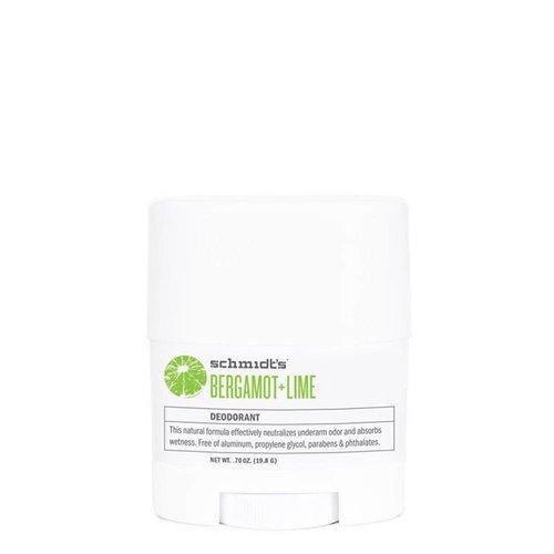 Schmidt's Naturals Deodorant Travel Stick Bergamot & Lime