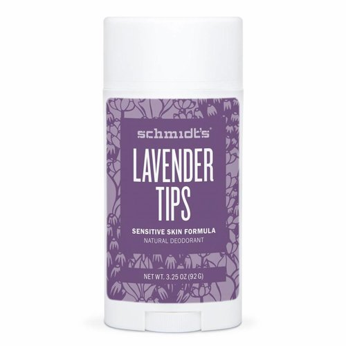 Schmidt's Naturals Deodorant Stick Sensitive Lavender Tips