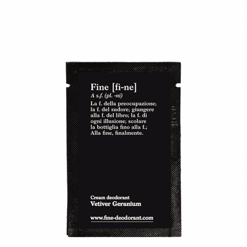 Fine Cream Deodorant Vetiver Geranium Sample