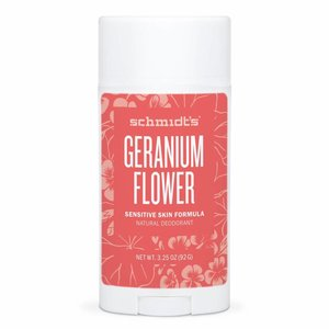 Schmidt's Naturals Deodorant Stick Sensitive Geranium Flower