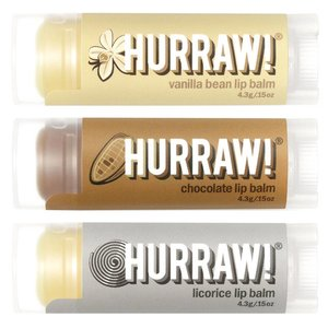 Hurraw! Flavour Pack Lip Balm Voordeel Trio