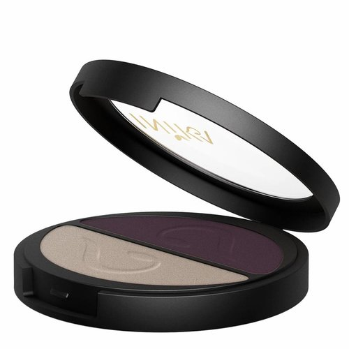Inika Pressed Mineral Eye Shadow Duo Plum & Pearl