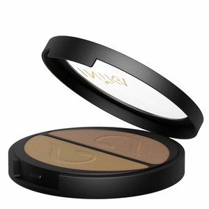 Inika Pressed Mineral Eye Shadow Duo Gold Oyster