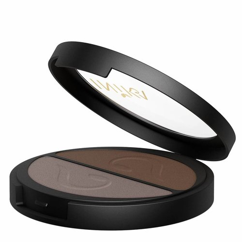 Inika Pressed Mineral Eye Shadow Duo Choc Coffee