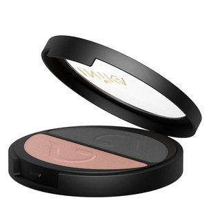 Inika Pressed Mineral Eye Shadow Duo Black Sand