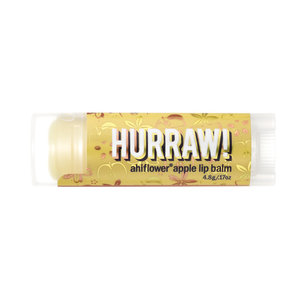 Hurraw! Ahiflower Apple Organic Lip Balm