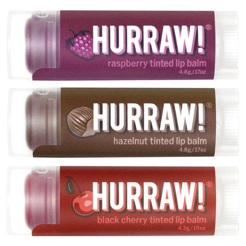 Hurraw! Tinted Lip Balm Voordeel Trio