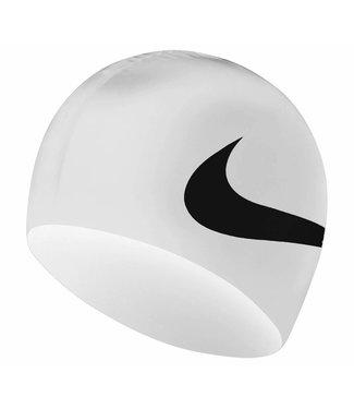 Nike Swim Swim Training Big Swoosh cap Wit Zwart