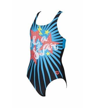 Arena G Vibes Jr Swim Pro One Piece L black-turquoise