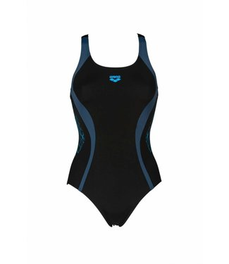 Arena W Balance V Back One Piece black-shark