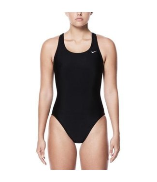 Nike Swim Dames Performance Nylon Solid Fastback Badpak Zwart