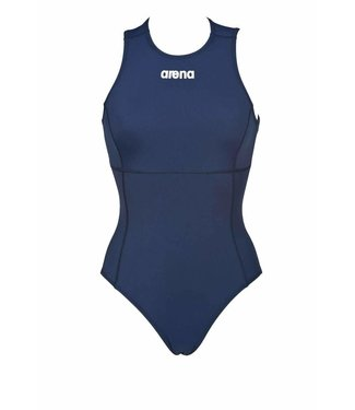 Arena W Solid Waterpolo One Piece navy/white