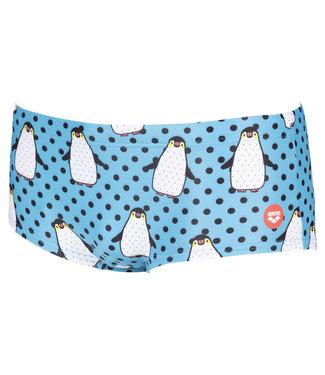 Arena Crazy Penguins Low Waist Short - Zwart/Multi