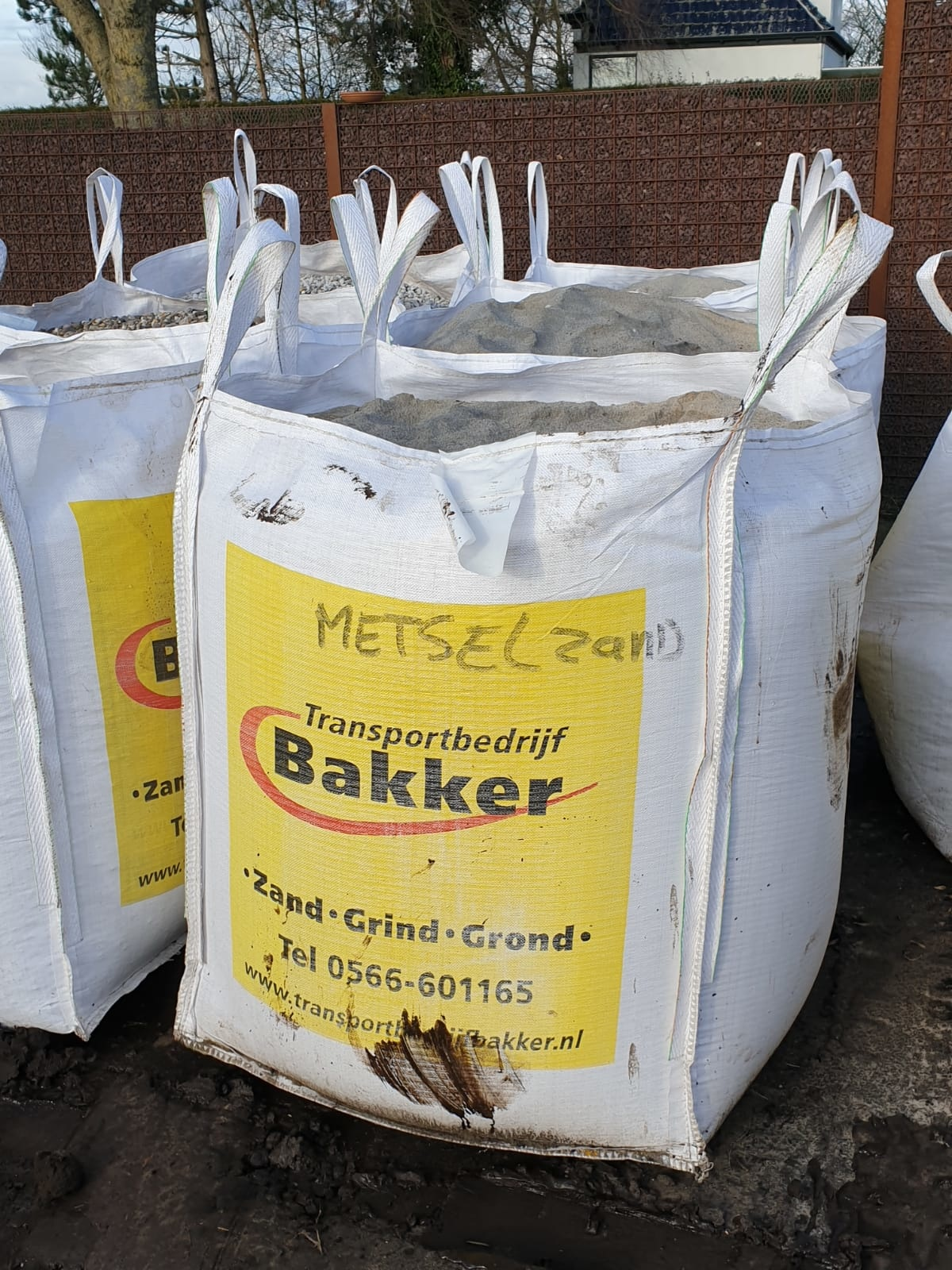Transportbedrijf Bakker Metselzand Big Bag - 1500 kg