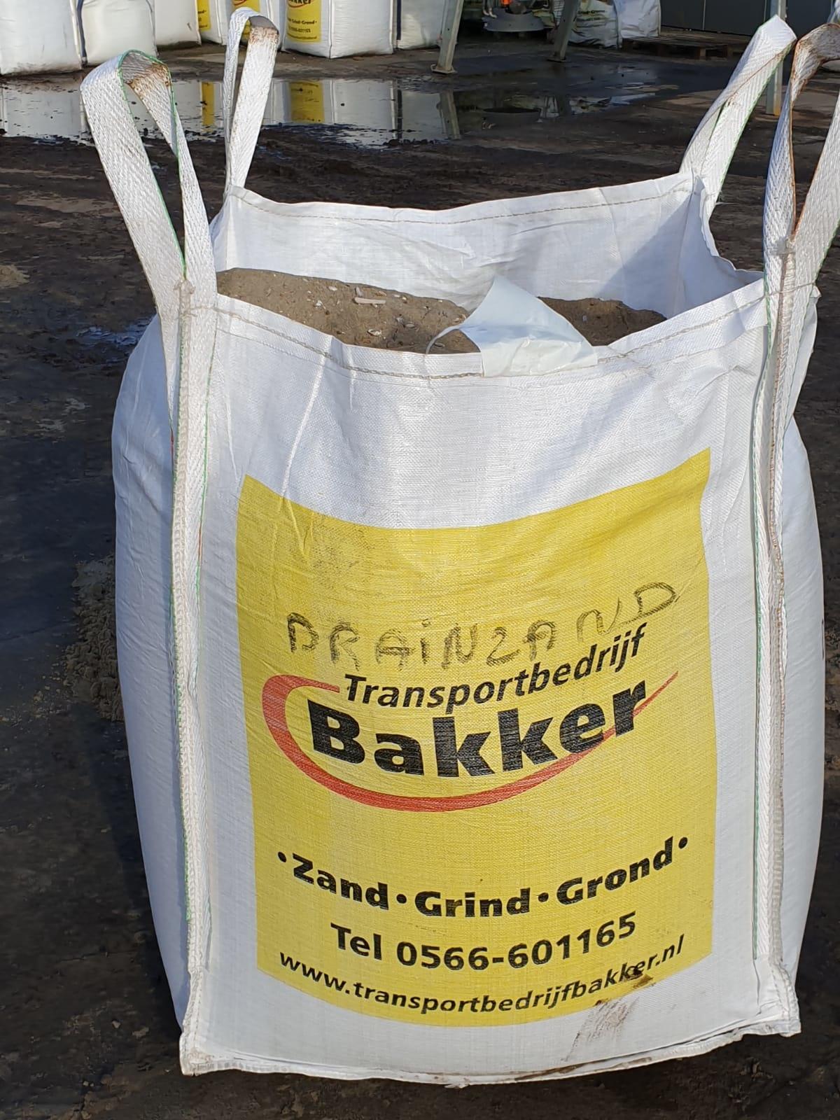Transportbedrijf Bakker Drainagezand Big Bag - 1500 kg