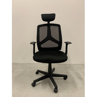 OVVIS Zwarte 2e Hands Bureaustoel